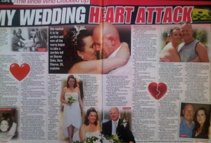 Sell a story about a wedding to Take a Break magazine