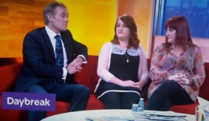 The eczema cream story appears on ITV's Daybreak