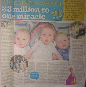 Sell story to the Daily Mirror
