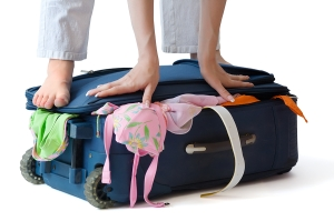 stuffed suitcase