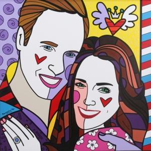 Duke and Duchess of Cambridge in modern art